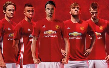 红魔曼联发布16-17赛季主场球衣