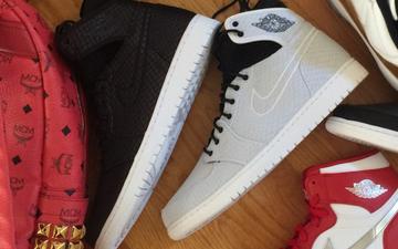 多图欣赏   黑白双色配备弹性内靴Air Jordan 1
