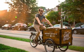 Velopresso——自行车上的咖啡店