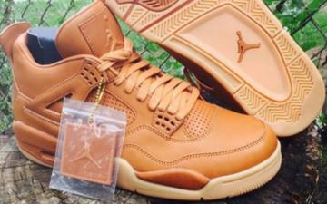 """灵感来自Timberland,Air Jordan 4 """"Wheat""""小麦色上装"""