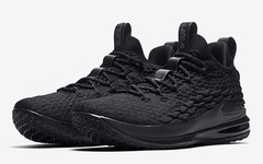 Triple Black 来袭!纯黑 Nike LeBron 15 Low 八月上架!