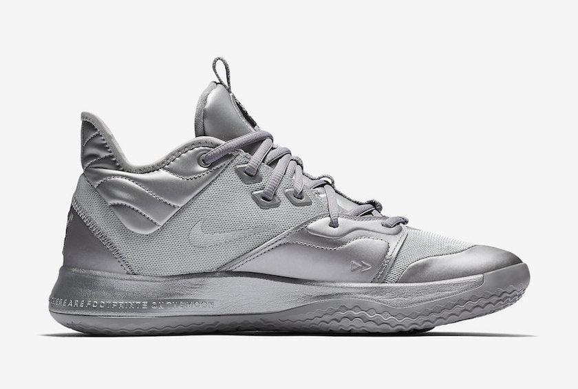 Nike PG 3 NASA Silver Reflective CI2667-001发布日期