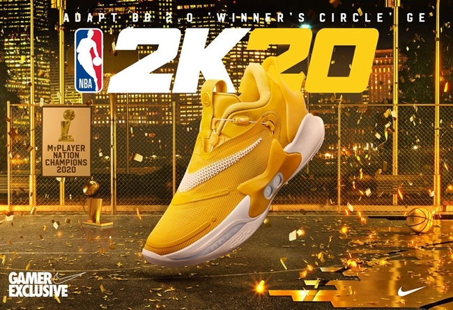 决赛专属配色!NBA 2K20 x Nike Adapt BB 2.0 曝光!